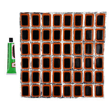 RED SUN Bicycle Tire Tyre Tube 48 Rubber Puncture Patch Repair Kit AD