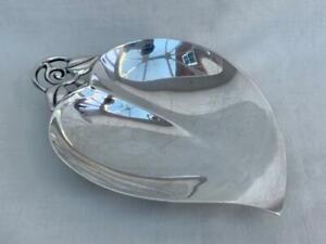 Fine Tiffany & Co Sterling Silver Leaf Form Dish.