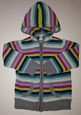 Old Navy Striped Hooded Sweater (Girls) Size 4T