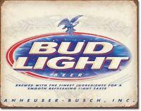 """Bud Light Budweiser Beer Anheuser Busch Rustic Retro Tin Metal Sign 16"""" x 12.5"""""""