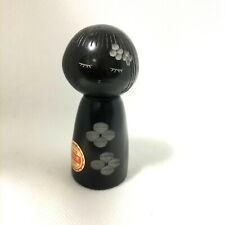 Kokeshi Nachi Black Folk Crafts 9 cm Japan