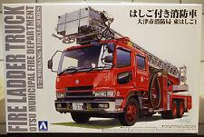 Feuerwehr Fire Ladder Truck Drehleiter, 1:72, Aoshima 012079 neu 2016 neu neu
