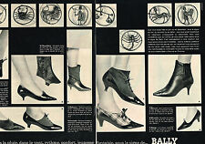 PUBLICITE ADVERTISING 064  1963  BALLY collection chaussures botillons hiver(2pa