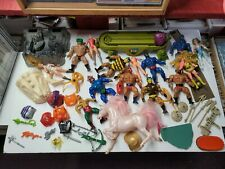 Masters Of The Universe Vintage Parts Weapons And Figures Lot He-Man She-Ra