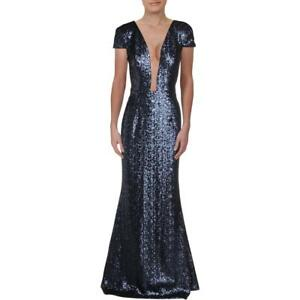 Dress The Population Womens Michelle Navy Formal Evening Dress Gown L BHFO 6822
