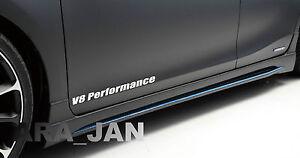 V8 PERFORMANCE Vinyl skirt  Decal sport racing door sticker WHITE