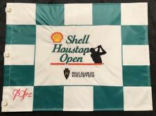 JB HOLMES SIGNED SHELL HOUSTON OPEN FLAG 2018 PGA CHAMPIONSHIP MASTERS COA K1