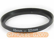 49mm to 52mm 49-52 mm Step Up Filter Ring  Adapter