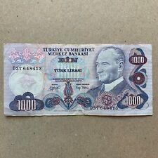 Turkish Lira 1000, Mor Binlik, Banknote, Currency, Mustafa Kemal Ataturk