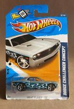 Hot Wheels 1:64 Heat Fleet '12 Dodge Challenger Concept Silver W4455 New