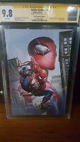 Spider-Geddon #0 Crain Con. Ed. C. Virgin CGC 9.8 Sign by Clayton Crain