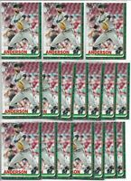 2019 Topps Holiday Walmart Nick Anderson (17) Card Rookie Lot #HW12 Marlins RC
