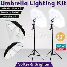 "4x33"" Photography Umbrella Lighting Lamp Studio Continuous Light Stand Video Kit"