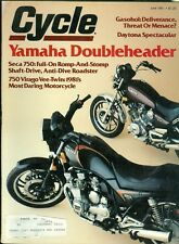 1981 Cycle Magazine: Yamaha Seca 750 & 750 Virago Vee-Twin/Daytona Spectacular