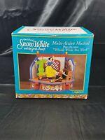 Vtg Disney Enesco Multi-Action Musical Snow White 7 Dwarfs Music box Windup