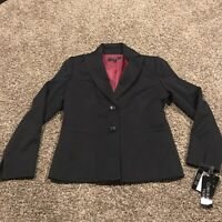 Collections By Le Suit Womens Size 6 Black 2 Button Blazer Nwt A32