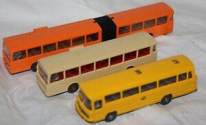 Wiking 1:87 Kunststoffmodell Konvolut - 3 x Busse  - ohne OVP - ansehen