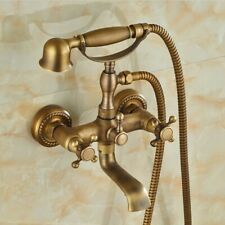 Bathroom wall Mounted Antique Brass With Bathtub Handheld Shower Faucet Ztf351