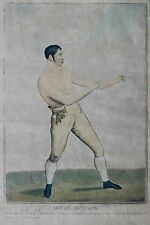 196 Years Old Samuel Fores Engraving Boxing Artist British Boxer Sporting Art !!