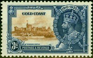 Gold Coast 1935 3d Brown & Deep Blue SG114a Extra Flagstaff V.F Very Lightly ...