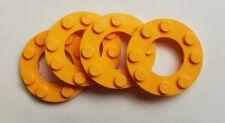 4 x Genuine LEGO 4x4 cerchio Hoop 2x2 Foro SCUDO GIALLO SCURO * parte 6097037 *