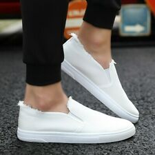 Men's Canvas Single Shoes Classic Slip On Shoes Student Sneakers Shoes