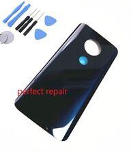 Orignal Glass Battery Back Cover Housing Motorola Moto G7 Plus XT1965-2 Blue