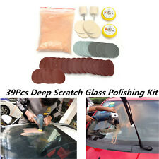 39Pcs Car Windshield Repair Kit Glass Scratch Removal Polishing Powder+Sandpaper