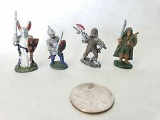 Lot of 4 Vintage D&D Warhammer Pre-Slotta RPG Painted Miniatures Paladin