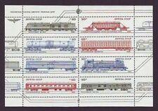 Trains, Railroads Souvenir Sheets Postal Stamps