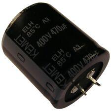 Kondensator KEMET ELH Elko 470uF 400V 35x40mm 2 Pin Snap-in 85°C RM10 854361