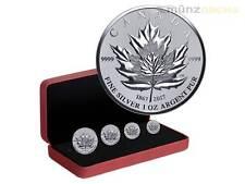 14 $ Dollar Pure Silver Fractional Maple Leaf Tribute Set Kanada Silber 2017