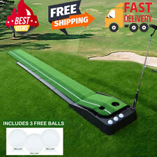 Golf Putting Green System 10ft Challenging Putter Indoor/outdoor Training Mat US