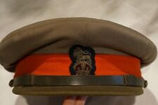 WW2 Canadian Brigadier General Peak Cap Hat with Badge and Field Cover