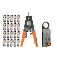 Adjustable Crimping Tool Set Kit Coaxial BNC RCA F RG59 RG6 Cable Crimper Cutter