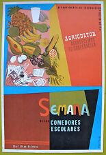 Vera Cortes Poster Semana Comedores Escolares DIP Puerto Rico 1974