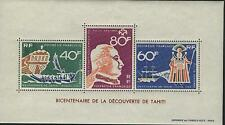French Polynesia Scott C47a  MNH Souvenir sheet Discovery of Tahiti