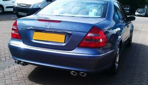 MERCEDES E320 AMG STYLE EXHAUST CONVERSION.CUSTOM STAINLESS STEEL.FITTED
