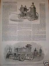Fire Engines London International Exhibition1862 prints