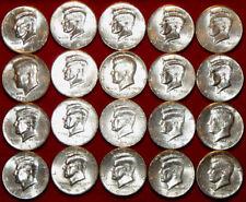 Lot Of 20 Kennedy Halves  -  All AU To Unc & BU - No Duplicates - L@@K