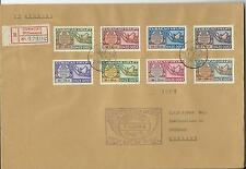 Netherlands Antilles air mail 1946 FDC on privat cover / map / registered