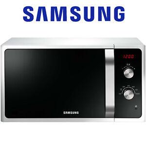 Samsung Mikrowelle 23 Liter 6 Leistungsstufen Auftauautomatik Timer 800 W Weiß