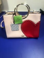 NWT KATE SPADE HEART IT SAM BAG LEATHER PURSE SATCHEL CROSSBODY TOTE