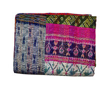 Patchwork Kantha Quilt Indian Handmade Cotton Blanket Bedding Comforter Throw