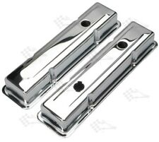 Chrome Valve Covers - SB Small Block Chevy 283-400 - 1958-86 - OEM Style 2-5/8""