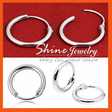 Unbranded Hoop Sterling Silver Fine Earrings