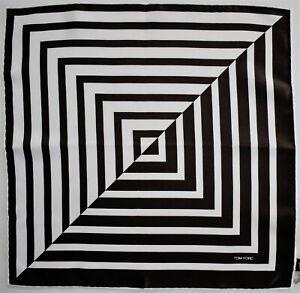 TOM FORD 100% SILK Pocket Square Handkerchief