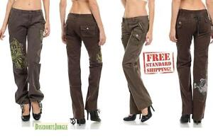 Womens Hipster Military Cargo Pocket Combat Trousers Leisure Army Casual PANTS