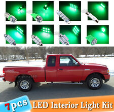 7-pc Green LED Car Interior Light Bulbs Package Kit Fit 1998 - 2011 Ford Ranger
