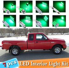 7-pc Green LED Car Interior Light Bulbs Package Kit Fit 1998 - 2011 Ford Ranger